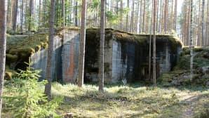 Vanhoja linnoitusrakennelmia.