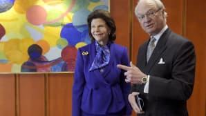 Kuningas Kaarle XVI Kustaa ja kuningatar Silvia vierailivat Hanasaaren kulttuurikeskuksessa Helsingissä 4. maaliskuuta 2015.