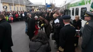 Ruotsin kuningaspari saapui Lappeenrantaan.