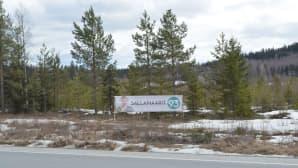 Keskustan Sallamaarit Markkasen vaalimainos tien reunassa.