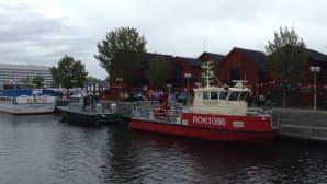 Aluksia Oulun torinrannassa.