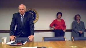 Dick Cheney ja George Bushin vaimo Laura Bush.
