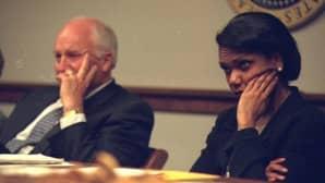 Dick Cheney ja Condoleezza Rice.