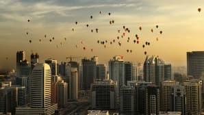 Kansainvälinen kuumailmapallofestivaali Dubaissa 6. joulukuuta.