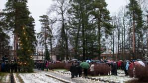 Sepeeleenlasku Kuopiossa.