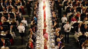 Nobel-palkintojuhla Tukholmassa 10. joulukuuta.