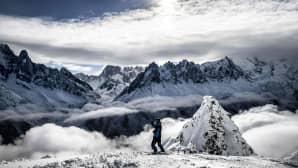 Mont Blanc kuvattuna 4. helmikuuta.