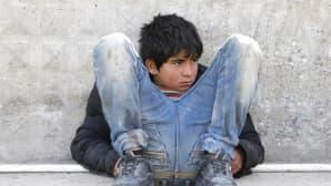 Syyriasta Turkkiin paennut lapsi Kilisin kaupungissa, lähellä Turkin ja Syyrian välistä rajaa 5. helmikuuta.