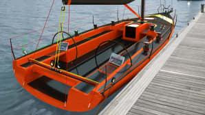 Autojen lisäksi Pasi Pennanen on muotollut myös veneitä: Maestro 39 Club Sport.