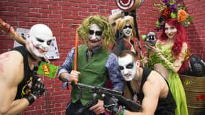 Osallistujat poseerasivat Comic Con -viihde- ja sarjakuvatapahtumassa Sveitsin Baselissa 5. toukokuuta.