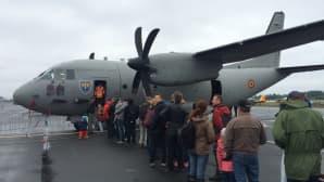 Romanian ilmavoimien C-27J Spartanin sisätiloihin riitti tungosta.