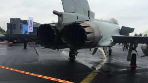 Eurofighter Typhoon ja työntövoiman tuottajat.