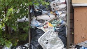rikkinäinen roskakori