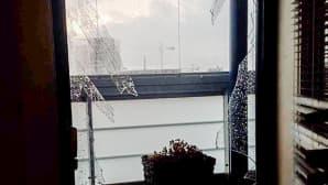 Tuuli riehui lasin rikki seitsemännen kerroksen parvekkeestai Matinkylässä Espoossa.