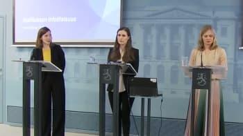 Hallituksen tiedotustilaisuus koronatilanteesta 18.3.2020