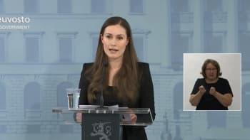 Hallituksen tiedotustilaisuus rajoitustoimien pidentämisestä 30.3.2020