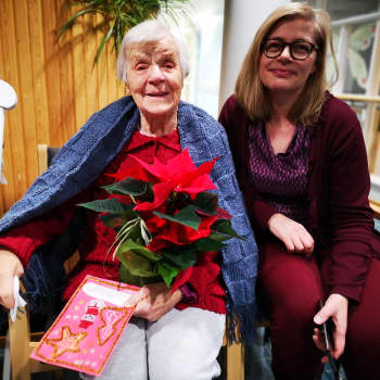 Joulukukkatempaus ilahdutti yksin asuvia vanhuksia Kemissä