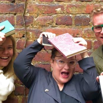 Författaren Sanna Tahvanainen utmanade Sonja och Mårten att börja skriva dagbok