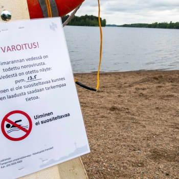 Noroviruksen määrä rannoilla yllätti asiantuntijan