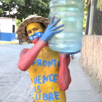 Venezuelan surullinen ja masentava maisema