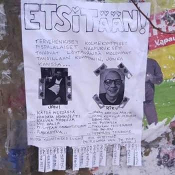 Tamperelaiskaverukset etsivät rakkautta teippaamalla seuranhakuilmoituksia sähköpylväisiin