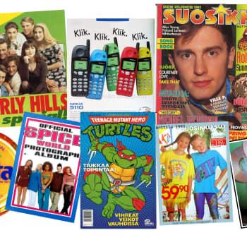 Nosto: Muistathan nappiverkkarit, Spaissarit ja c-kasetit? Tyttöjen päivänä sukellettiin 90-luvulle