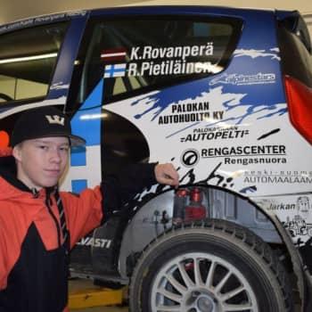 Sunnuntaivieras: Ajokortiton Kalle Rovanperä, 16, on jo Latvian rallimestari