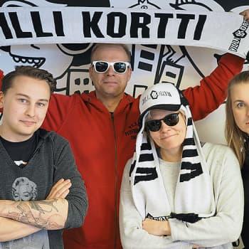 Poikelus ja Hätönen: Villi kortti -sarjan Paula ja Ville: Meillä meni lentopallossa tosi hyvin kun vastustajat oli sidottu köysillä yhteen
