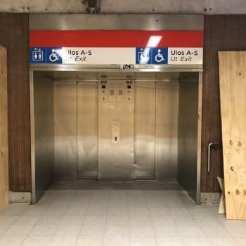 Reparationen av Järnvägstorgets metrostation i Helsingfors försenad - hissen tas i bruk tidigast i slutet av februari