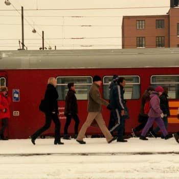 Kuulutus Helsingin rautatieasemalla
