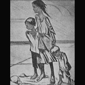 """""""Samassa huoneessa yli 200 naista ja lasta"""" (Alma Kumpulainen, Rautu)"""
