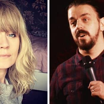 Samtal om satir med Sonja Ahlfors och Anders Helenius