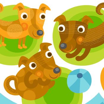Loiskis: Leikkisät koiranpennut