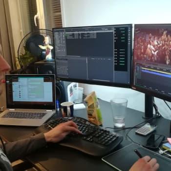 Stefan Bergfors klippte specialavsnitt av Let's Dance hemma i Närpes