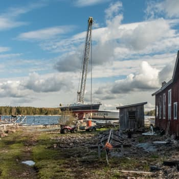 Ednäs varv på Pellinge har haft mycket jobb under våren - de sista båtarna ska ut till midsommaren