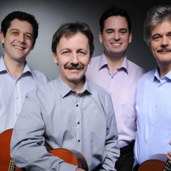 Prags gitarrkvartett på konsertestraden