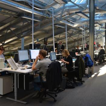 Kontoren krymper igen, hyrda arbetsrum och mera distansjobb