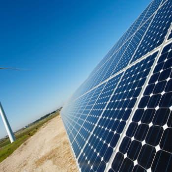 Andelen förnybar energi har ökat  under epidemin.