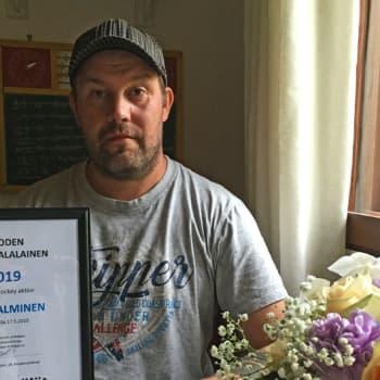 Vuoden kangasalalainen Jussi Salminen liikuttaa lapsia ja nuoria