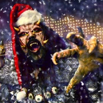Mr. Lordi juhlii joulua lokakuusta pääsiäiseen. Jouluaatto ja joulupäivä ovat pienet piikit kuukausia kestävässä karnevaalissa