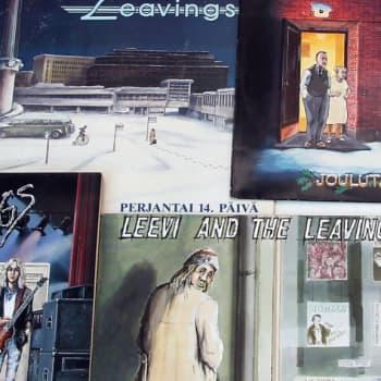 Mikko Kurenniemi piirsi 13 vuotta Leevi and the Leavings yhtyeen levynkansia