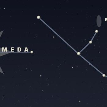 Kuukauden tähtitaivas: Andromedan galaksi näkyy pienenä utupilvenä tähtitaivaalla