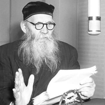 Frans Emil Sillanpää haastateltavana (1948)
