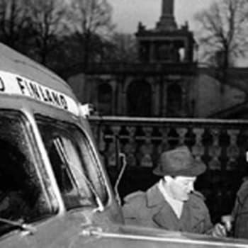 Ääniautolla Länsi-Saksaa kiertämässä (1950)