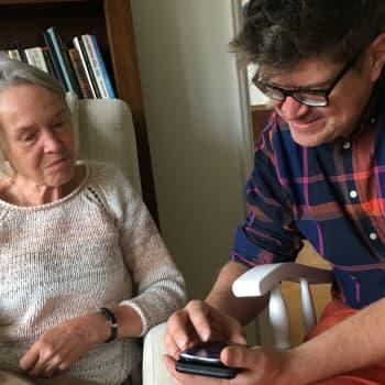Merete Mazzarella utmanade sig med att förbättra sin smarttelefon-kompetens