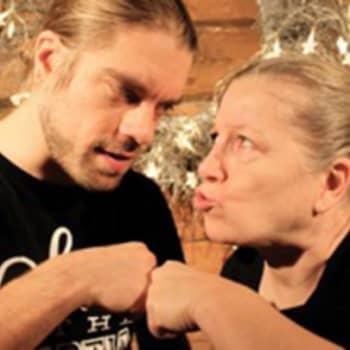 Sukuvika: Kaksi maailmanparantajaa: näyttelijät Eija Ahvo ja Joonas Saartamo