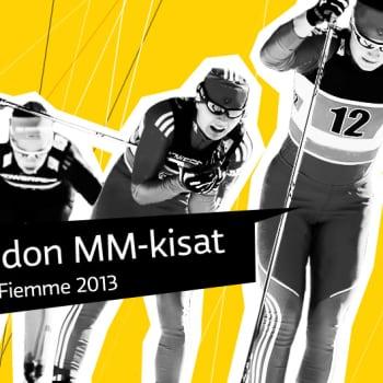 Hiihdon MM 2013: Naisten yhdistelmähiihto 7,5 km (p) + 7,5 km (v) ja miesten yhdistelmähiihto 15 km (p) + 15 km (v)
