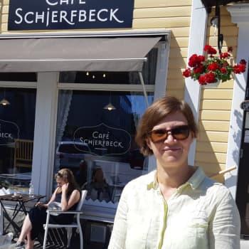 Skepparträdgården var Helene Schjerfbecks favoritplats i Ekenäs - på bildkonstens dag för alla prova på att måla