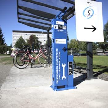 Kajaanissa kolme polkupyörän huoltopistettä