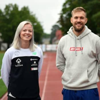 Friidrottarna Jonna Berghem och Teo Takala tävlar i Åbo på tisdag (4.8)